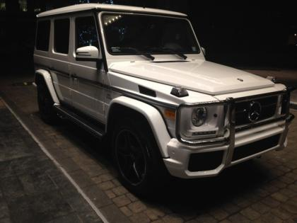 2014 MERCEDES BENZ G63 AMG - WHITE ON WHITE