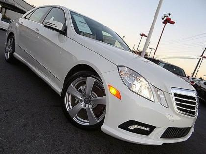 2011 MERCEDES BENZ E350 BASE - WHITE ON BLACK