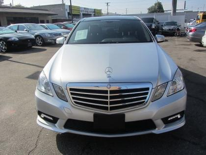 2011 MERCEDES BENZ E350 BASE - SILVER ON BLACK 2