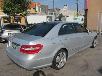 2011 MERCEDES BENZ E350 BASE - SILVER ON BLACK 3
