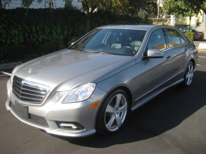 2011 MERCEDES BENZ E350 BASE - GRAY ON BLACK 1