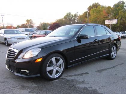 2011 MERCEDES BENZ E350 4MATIC - BLACK ON ORANGE