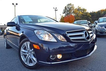 2010 MERCEDES BENZ E350 COUPE - BLUE ON GRAY