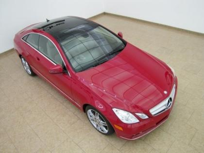 2011 MERCEDES BENZ E350 COUPE - RED ON BEIGE