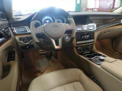 ... 2014 MERCEDES BENZ CLS550 4MATIC   BLUE ON BEIGE 3 ...