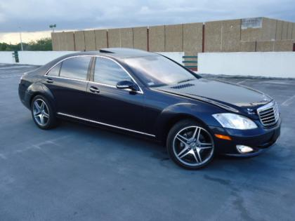 2007 MERCEDES BENZ S550 BASE - BLUE ON BEIGE