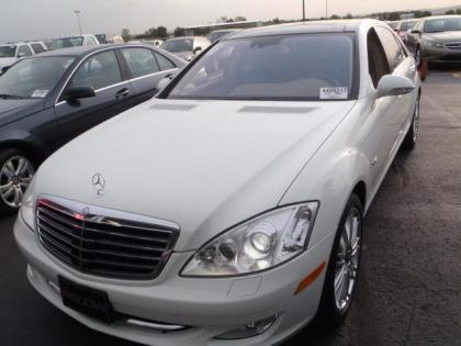 2008 MERCEDES BENZ S600 BASE - WHITE ON BEIGE