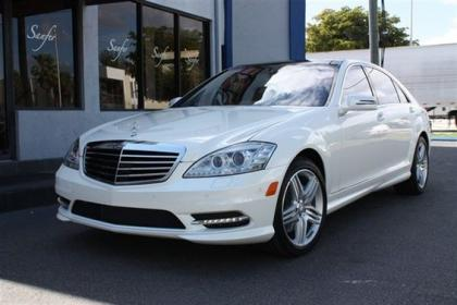 2013 MERCEDES BENZ S550 BASE - WHITE ON BLACK 1