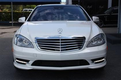 2013 MERCEDES BENZ S550 BASE - WHITE ON BLACK 2