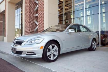 2012 MERCEDES BENZ S550 V4 - SILVER ON BLACK