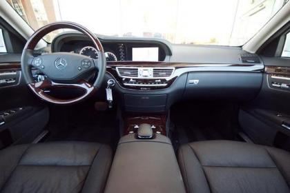 2012 MERCEDES BENZ S550 V4 - SILVER ON BLACK 6