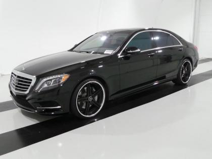 2015 MERCEDES BENZ S550 BASE - BLACK ON BROWN
