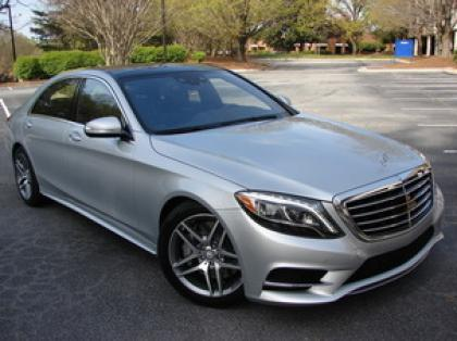 2014 MERCEDES BENZ S550 BASE - SILVER ON BLACK 2