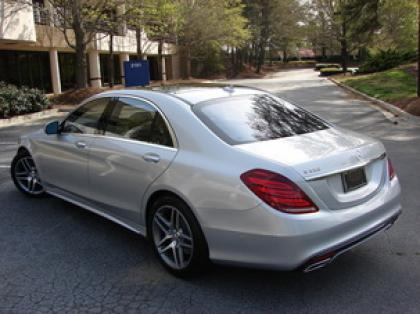 2014 MERCEDES BENZ S550 BASE - SILVER ON BLACK 4