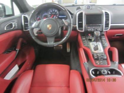 2014 porsche cayenne turbo s white on red 3