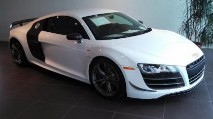 2012 AUDI R8 5.2L GT - WHITE ON BLACK