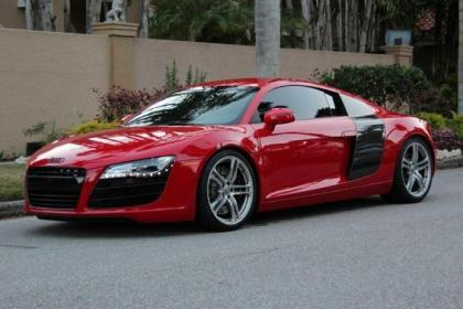 export used 2009 audi r8 6 speed manual red on black. Black Bedroom Furniture Sets. Home Design Ideas