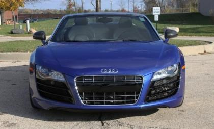 2012 AUDI R8 SPYDER - BLUE ON BLACK 4