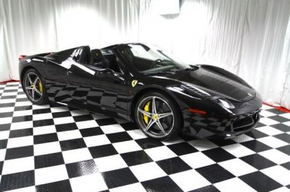 2013 FERRARI 458 ITALIA SPIDER - BLACK ON BLACK