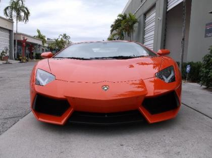 2012 LAMBORGHINI AVENTADOR LP700-4 - ORANGE ON BLACK 2