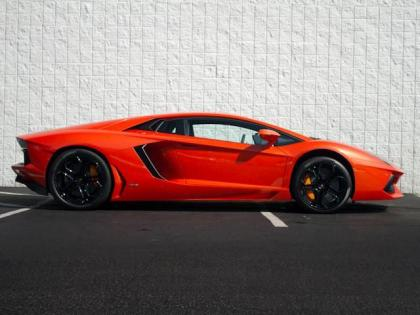 2012 LAMBORGHINI AVENTADOR LP700-4 - ORANGE ON BLACK/ORANGE 2