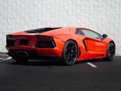 Export Used 2012 LAMBORGHINI AVENTADOR LP700-4 - ORANGE ON ...