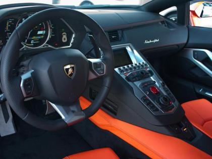 Export Used 2012 Lamborghini Aventador Lp700 4 Orange On Black Orange