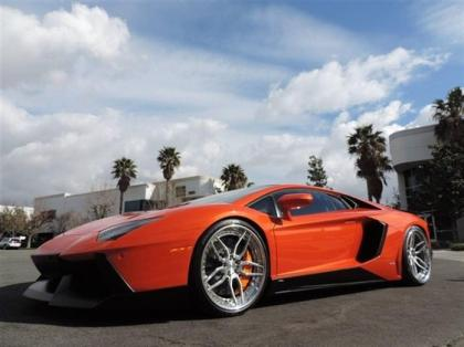 2012 LAMBORGHINI AVENTADOR LP700-4 - ORANGE ON BLACK 4