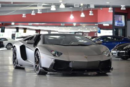 2014 LAMBORGHINI AVENTADOR ROADSTER - GRAY ON BLACK